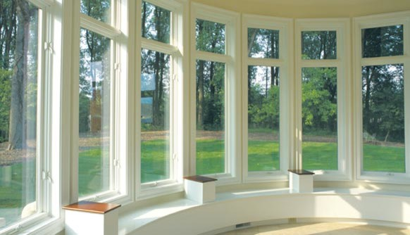 Casement Bow Window : Bow window made with casement awning windows