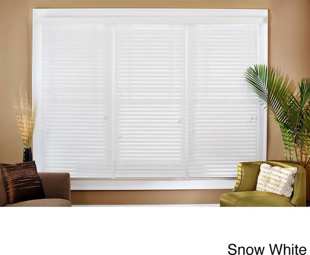 1 Inch Faux Wood Blinds: Faux Wood 26 1/2-inch Blinds