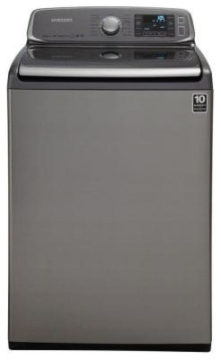 Samsung 5.0 cu. ft. High-Efficiency Top Load Washer in Platinum, ENERGY STAR WA5 contemporary-household-cleaning-supplies