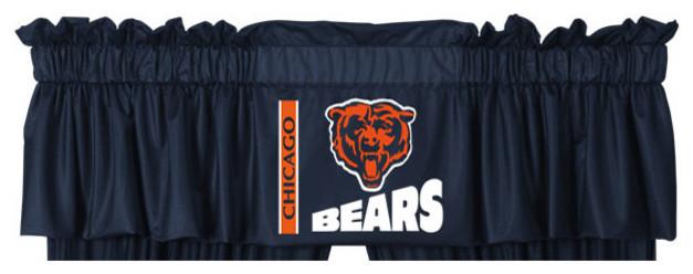 Nfl Chicago Bears Football Logo Locker Room Valance Modern Window Treatments By Obedding