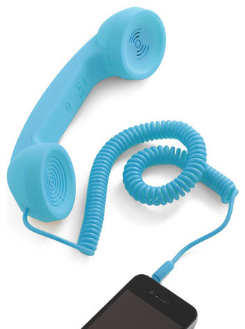 Call to Charm Cell Phone Handset in Blue eclectic home electronics