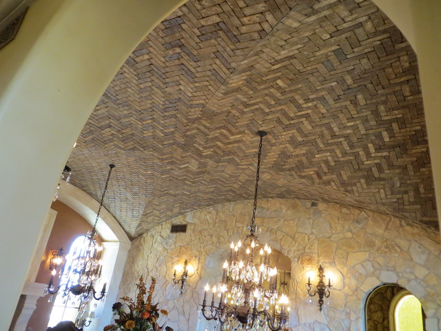 Herringbone Ceiling Treatment