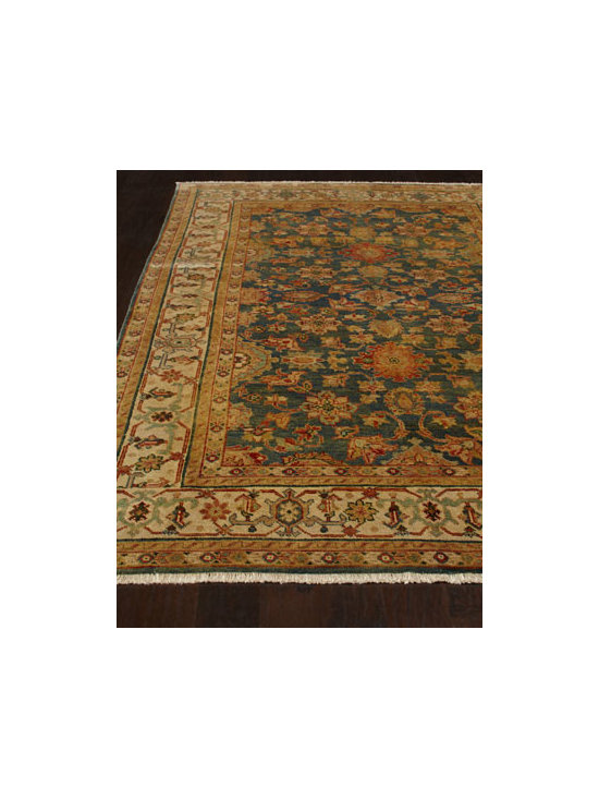 "Horchow - ""Dreka"" Mahal Rug - Fashionably designed of the finest wool, this heirloom carpet collection is inspired by traditional Mahal design in a color scheme sure to accentuate modern and traditional decor. Hand knotted of wool. Sizes are approximate. Imported. Please note:...."