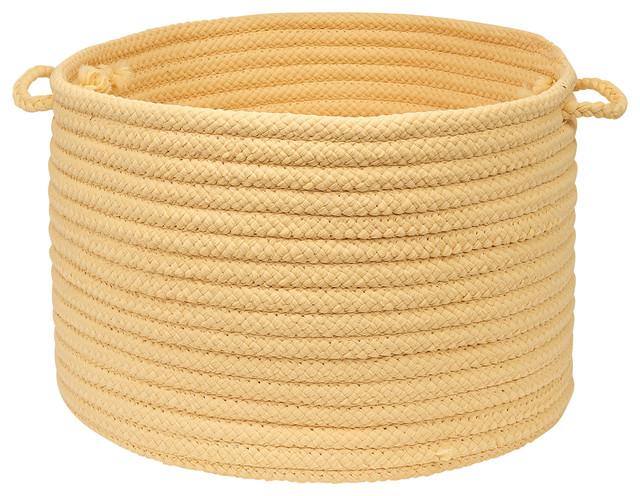 "Stripe It, Yellow Shimmer Utility Basket, 18""X12"" contemporary-baskets"