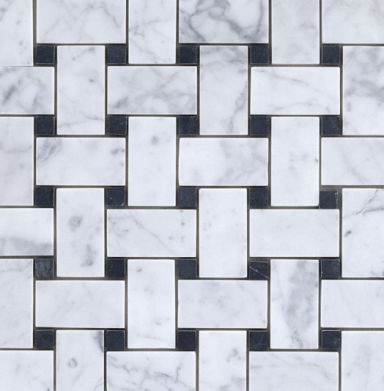 Carrara Basketweave Stone Mosaic - Ann Sacks Tile & Stone traditional bathroom tile