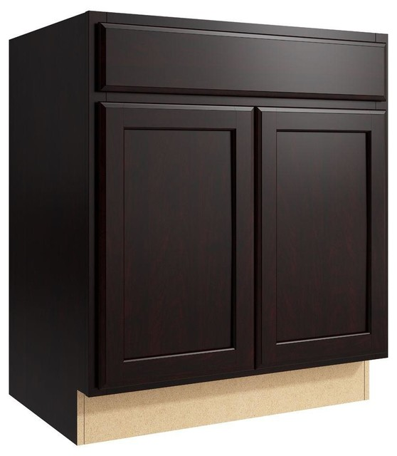 Cardell Cabinets Stig 30 In W X 34 In H Vanity Cabinet Only In Coffee Brown Contemporary