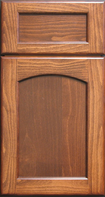 european steemed beech radius arched shaker cabinet door traditional other metro by style
