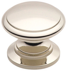 161-PN polished nickel round cabinet knob traditional-cabinet-and-drawer-knobs