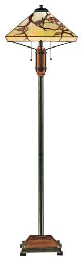 Quoizel TF9404M Grove Park Tiffany Floor Lamp contemporary-floor-lamps