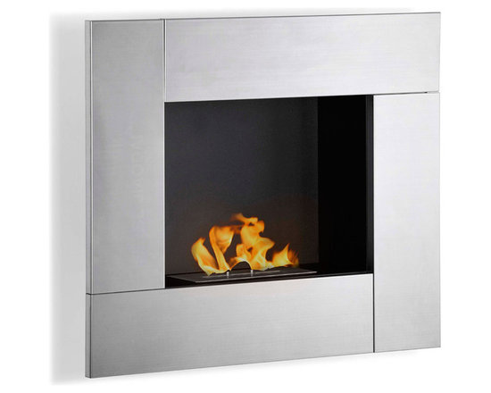 Moda Flame - Reus Wall Mounted Ethanol Fireplace - The Reus creates a vibrant atmosphere wherever it is mounted, the contemporary mimicking lively work of art fireplace. It's square picturesque frame has a powder coated inner layer with a clean steel frame.