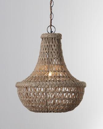 Jamie Young Macrame Jute Chandelier traditional-chandeliers