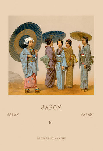 Traditional Japanese Women 24x36 Giclee contemporary-prints-and-posters