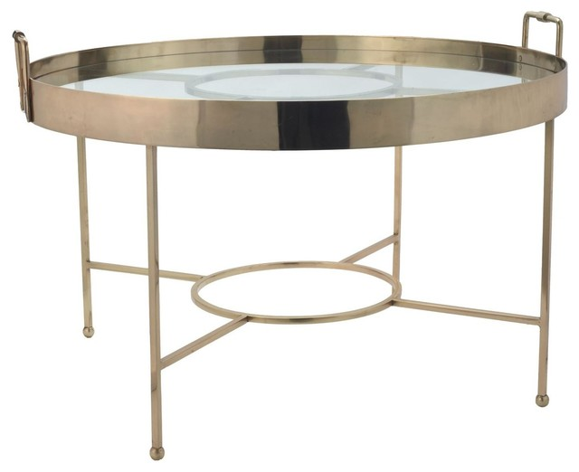 Lazy Susan Gold Radar Coffee Table Traditional Coffee Tables By Candelabra