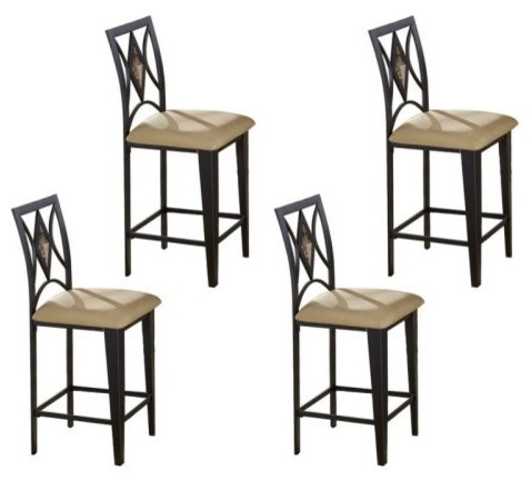 Counter Height Chairs Set Of 4 : ... Counter Height Chairs - Set of 4 contemporary-bar-stools-and-counter