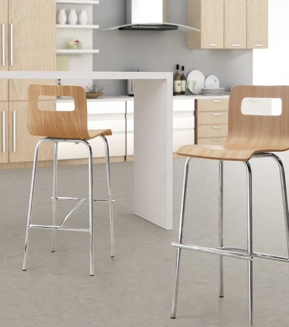 Zuo Escape Bar Stool In Natural Modern Bar Stools And Counter Stools Charlotte By Atoz