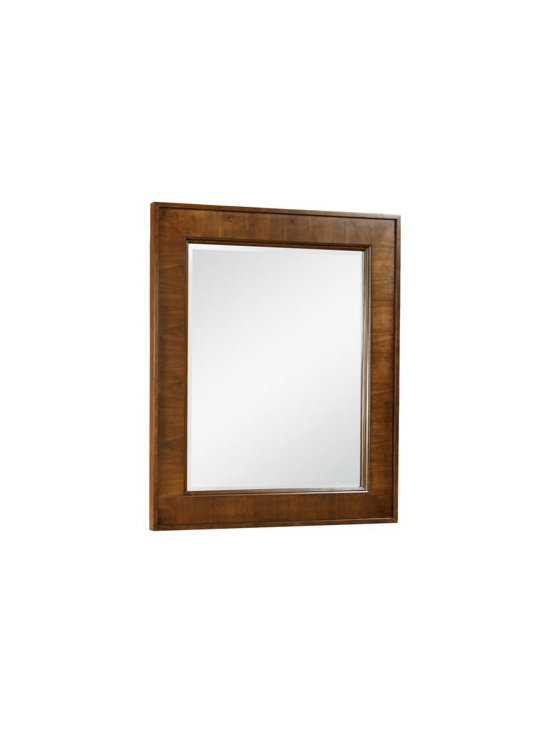 """Horchow - Aspen Mirror - Modern design bedroom furniture features clean lines to bring contemporary style to your bedroom. Made of select hardwoods with 0.25"""" vertical quartered walnut veneers. Drawers have 0.75"""" solid ash sides and backs, wood-on-wood center glides, and Engl..."""