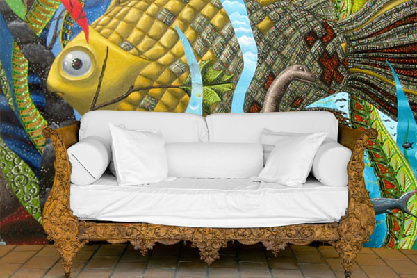 Custom Printed Wallpaper and Murals- Great for accent walls contemporary-wallpaper
