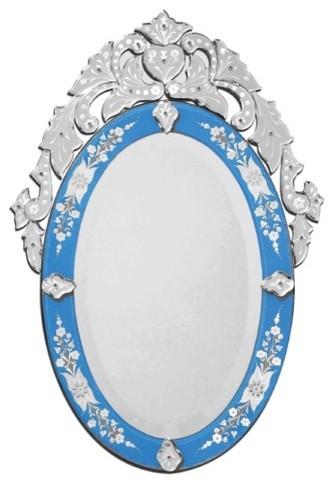 Olympia Venetian Wall Mirror in Blue modern-wall-mirrors