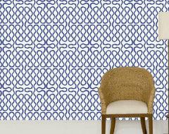 Squiggle Wallpaper contemporary-wallpaper