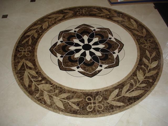 Marble Waterjet Medallion traditional-floor-tiles
