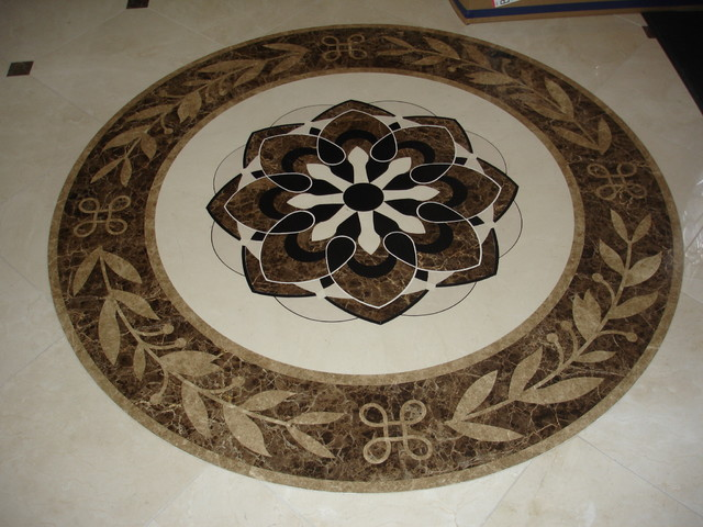 Marble Waterjet Medallion Traditional Wall And Floor Tile By