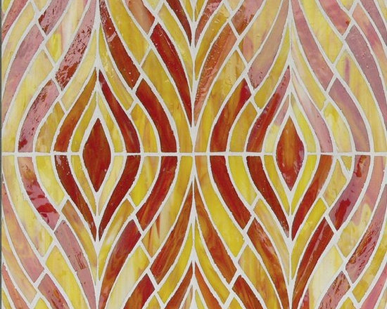 Hirsch Signature stained glass mosaic - Stained glass mosaic by Hirsch glass tile