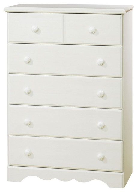 For a stylish updated version of cottage country the Summer Breeze 5-Drawer Ches traditional dressers chests and bedroom armoires
