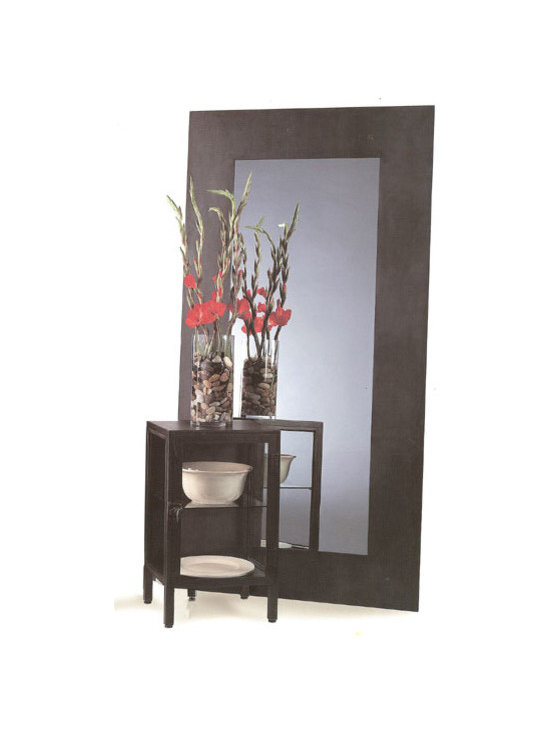 Full Size Metal Mirror - Large floor mirrors contribute to the open, airy feel and are a great addition to any contemporary space. A large mirror can mimic floor to ceiling windows in a space lacking large windows and natural light. Make a statement with our Full Size Metal Mirror in your contemporary style home.