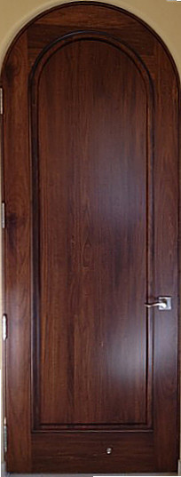 Tuscany Style Doors Solid Wood Round Top Walnut Door
