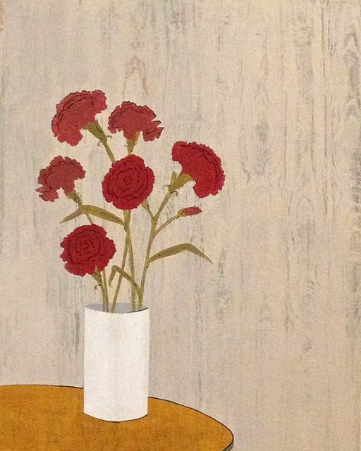 Red Carnations eclectic-artwork