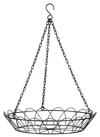Amira Hanging Birdbath Holder contemporary bird baths