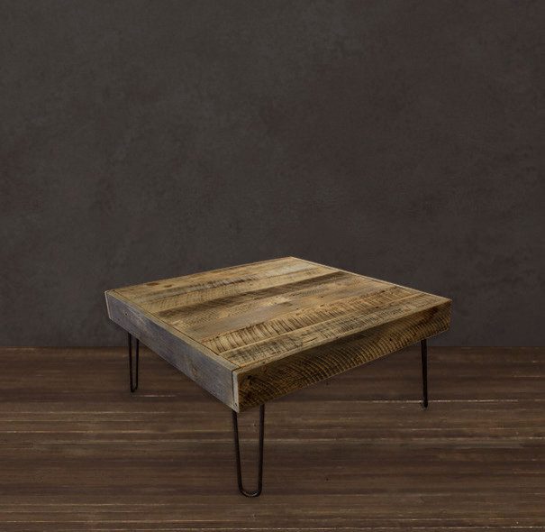 Reclaimed Wood Square Coffee Table Modern Coffee Tables Denver By Jw Atlas Wood Co