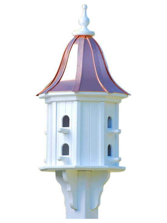 Dovecote Birdhouse - This charming birdhouse makes a sweet destination for the songbirds in your area. They'll happily perch under the wonderful sloped dome or look out the cathedral-style windows, while you'll enjoy the sights and sounds knowing the sturdy structure is built to last for many years of visits to come.