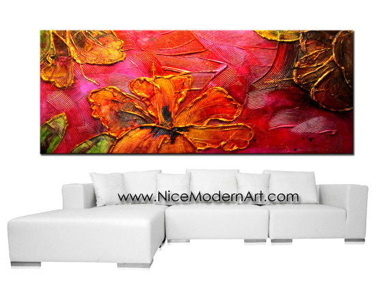 "Original Abstract Painting ""Paradise"" by Abstract Artist: Dora Woodrum - Original Abstract Painting ""Paradise"""