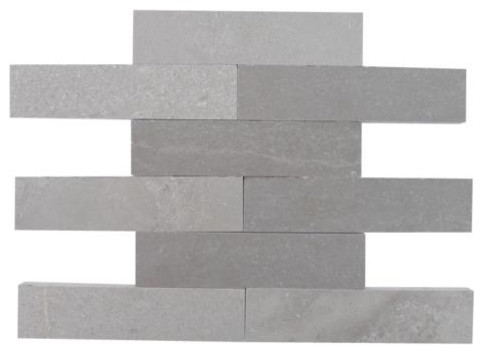 Brushed Stone Lady Gray 2x8 Marble Tile traditional-tile
