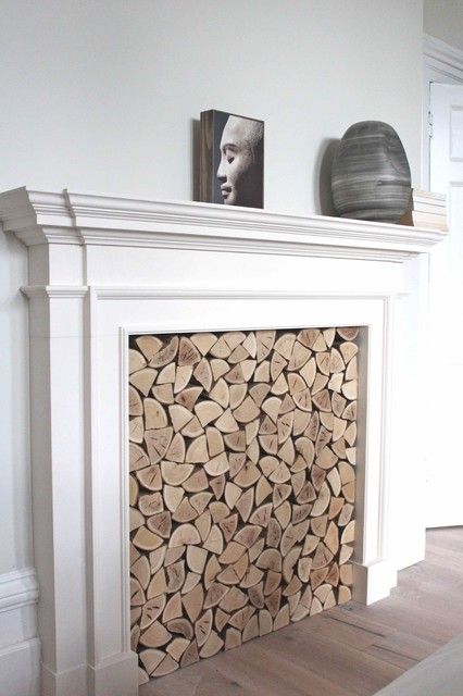 Decorative Logs For Bedroom Fireplace Uk Contemporary West Midlands By The Little Log Company