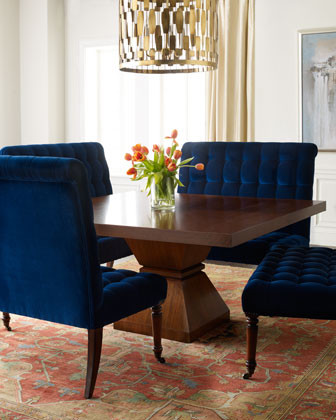 Each Barclay Butera Lifestyle Sapphire Banquette traditional dining chairs and benches