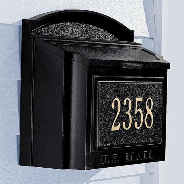 Wall Mailbox and Address Marker traditional mailboxes