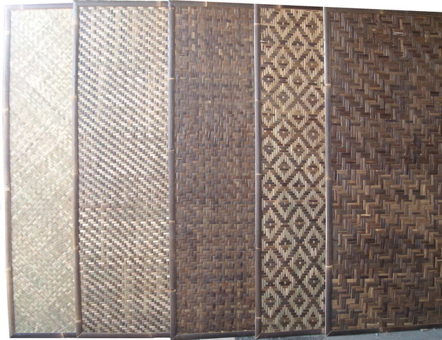 bamboo woven traditional-screens-and-room-dividers