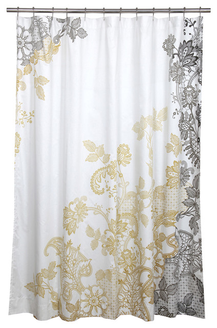 Evita Shower Curtain Contemporary Shower Curtains By Inmod