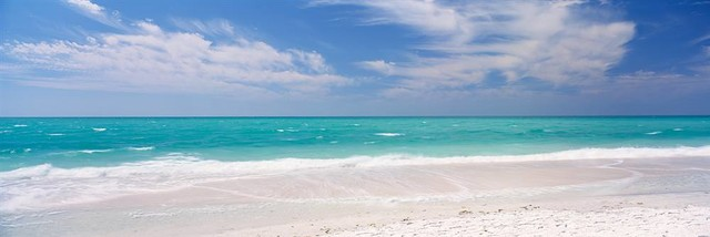Clouds Over Lido Beach Panoramic Fabric Wall Mural - Wallpaper - by Walls 360, Inc.