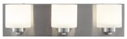 Alternating Current AC1143 Clean 3 Light LED ADA Compliant Bathroom Vanity Light transitional-bathroom-vanity-lighting