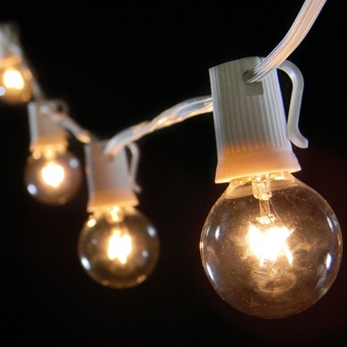 Light Globe String Lights : Globe String Lights, White Wire - Modern - Outdoor Rope And String Lights - by Lights For All ...