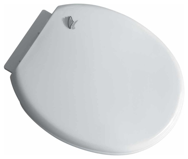 Toilet Seats White Plastic Slow Close Toilet Seat No Slam Round Transitiona