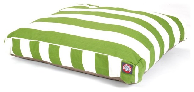 Vertical Stripe Rectangle Pet Bed modern-pet-care