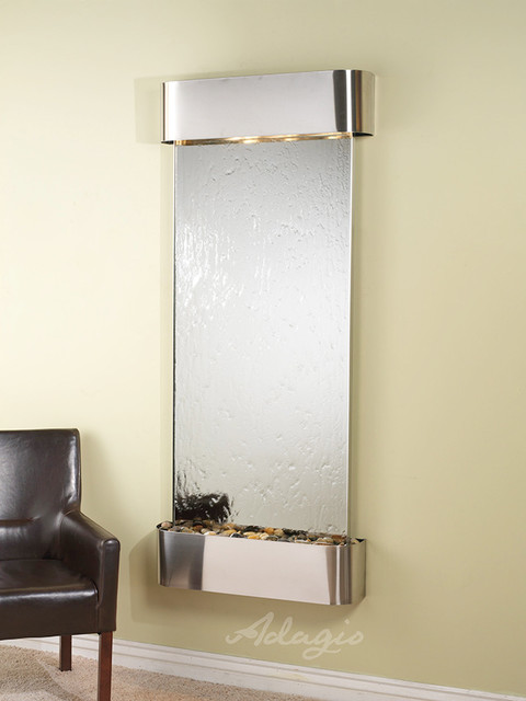 Glass and Mirrored Wall Water Features - The Inspiration Falls Mirrored contemporary-indoor-fountains