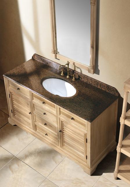 "59.25"" Antique Dreams Single Bath Vanity - Natural Oak traditional-bathroom-vanities-and-sink-consoles"