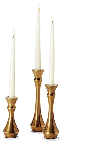 Amana brass candlesticks modern candles and candle holders by serena lily Home decor candlesticks