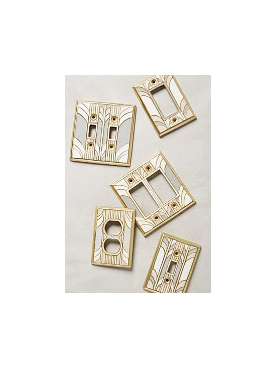 Anthropologie - Retro Swirl Switch Plate - Sold individually. Hardware required. Aluminum, enamel. Imported