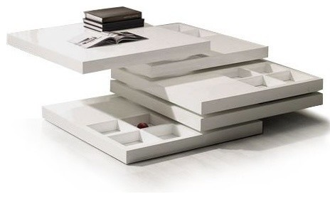 Modern white square coffee table with storage Seto modern-coffee-tables